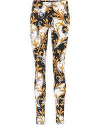 Versace Leggings mit Print - Mehrfarbig