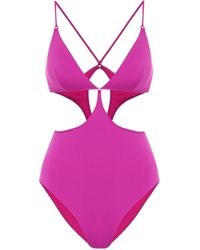 Stella McCartney Cut-out One-piece Swimsuit - Pink