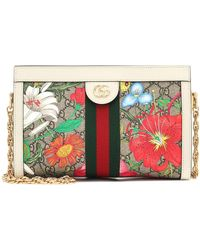 Gucci - Ophidia GG Flora Small Shoulder Bag - Lyst