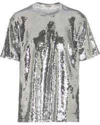 Junya Watanabe T-shirt à paillettes - Gris