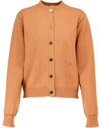 Victoria Beckham Cardigan aus Wolle - Orange