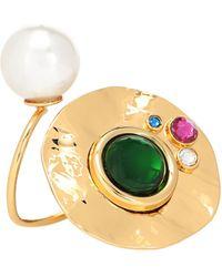 Dries Van Noten Embellished Ring - Metallic
