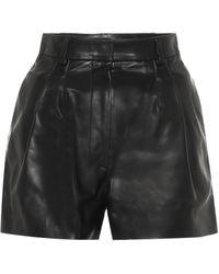 Alaïa Shorts de piel - Negro