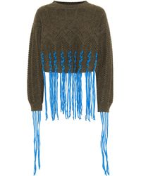Loewe Wool And Alpaca-blend Sweater - Blue