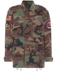 Polo Ralph Lauren   Appliquéd Cotton Jacket   Lyst