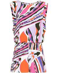 Emilio Pucci Combi-short imprimé en jersey - Multicolore