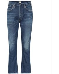 Citizens of Humanity Charlotte Cropped High-rise Jeans - Blue