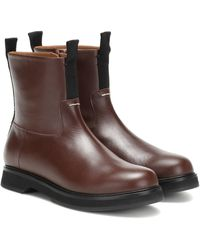JOSEPH Leather Ankle Boots - Brown