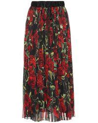 Dolce & Gabbana Gonna plissé a stampa floreale - Multicolore
