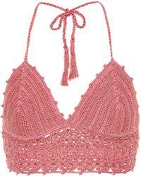 Anna Kosturova - Darling Crochet Cotton Bikini Top - Lyst