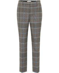 Givenchy Pantalon en laine et coton mélangés à carreaux - Multicolore