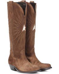 Golden Goose Deluxe Brand Wish Star Suede Cowboy Boots - Brown