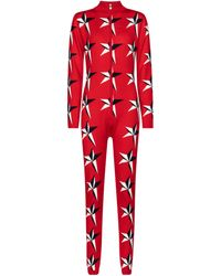 Perfect Moment Jumpsuit Star ll aus Merinowolle - Rot