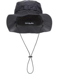 Acne Studios Sombrero de nylon - Negro