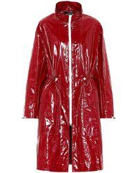 Isabel Marant Impermeabile Ensel con zip - Rosso