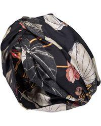 Etro Floral Silk Headband - Black