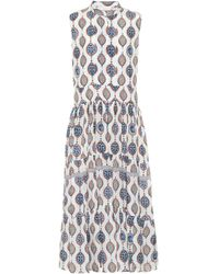 Chloé Silk-habotai Midi Dress - Blue
