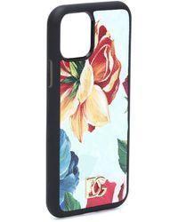 Dolce & Gabbana Funda para iPhone X/XS floral - Multicolor
