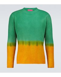 The Elder Statesman - Dip-dyed Crewneck Sweater - Lyst