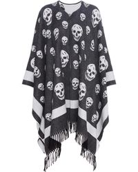 Alexander McQueen - Wool And Cashmere Cape - Lyst