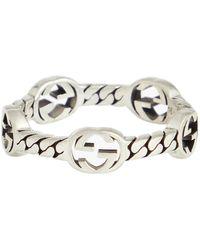 Gucci Anello in argento sterling - Metallizzato