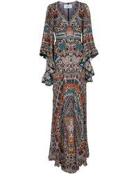 Etro Paisley Silk Gown - White
