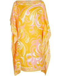 Emilio Pucci Printed Silk Kaftan - Yellow