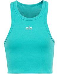 Alo Yoga Top raccourci Aspire - Bleu