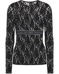Dolce & Gabbana Lace Top - Black
