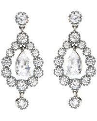 Bottega Veneta Cubic Zirconia Earrings - Metallic