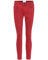 Current/Elliott Jeans skinny The Stiletto a stampa - Rosso
