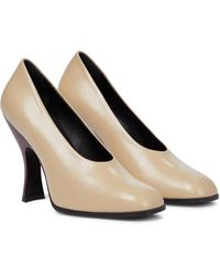 The Row Jade Leather Pumps - Natural