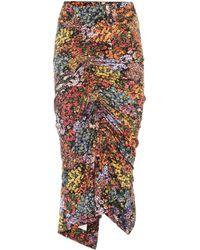 Preen By Thornton Bregazzi Monna Floral Stretch Crêpe Skirt - Multicolour