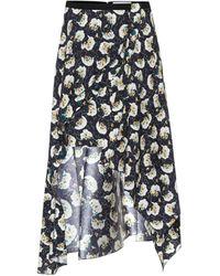 Chloé High-rise Stretch-silk Midi Skirt - Blue