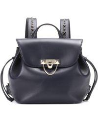 Valentino - Garavani Demilune Small Leather Backpack - Lyst