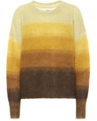 Étoile Isabel Marant Drussell Mohair-blend Sweater - Yellow