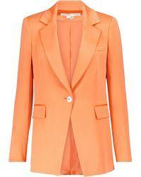 Veronica Beard Blazer Erie de satén - Naranja