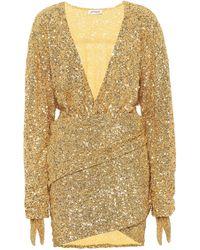 The Attico Sequined Dress - Metallic