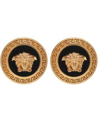 Versace Logo Earrings - Metallic