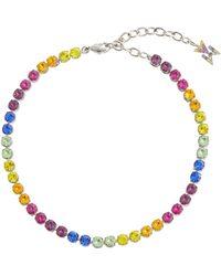 AMINA MUADDI Bracelet de cheville Tennis à ornements - Multicolore