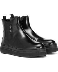 eadfb2452b0 Leather Ankle Boots - Black