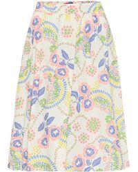 A.P.C. Ravenna Floral Cotton Skirt - Multicolor