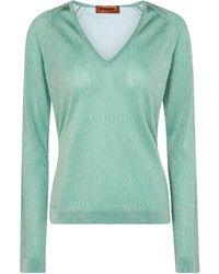 Missoni Pullover aus Metallic-Strick - Grün