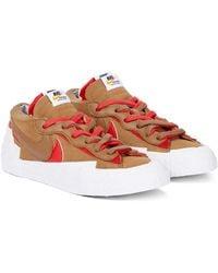 Nike X sacai Sneakers Blazer Low - Braun