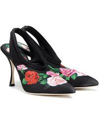 Dolce & Gabbana Scarpe con Tacco da Donna In Outlet - Nero