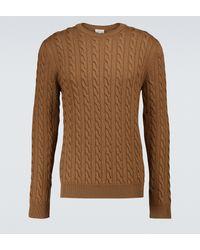 Sunspel Jersey de punto de lana merino - Marrón