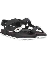 Roger Vivier Crystal-embellished Sandals - Black