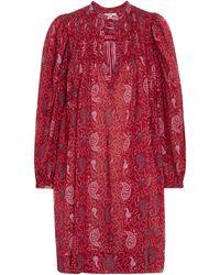 Étoile Isabel Marant Minikleid Virginie aus Baumwolle - Rot