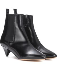 Isabel Marant Dawell Leather Ankle Boots - Black