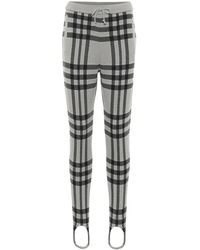 Undercover Checked Wool Stirrup Pants - Gray
